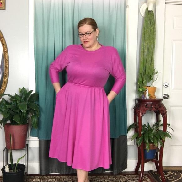 💗 Vintage Plus Size Pink Secretary Dress 💗